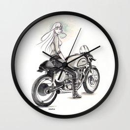 Retro Moto Girls - Manx Wall Clock