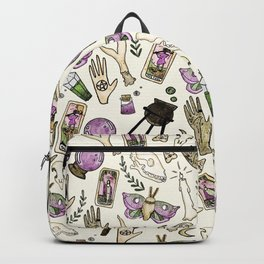 WITCH pattern • in bone Backpack