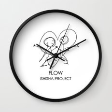 FLOW by ISHISHA PROJECT Wall Clock