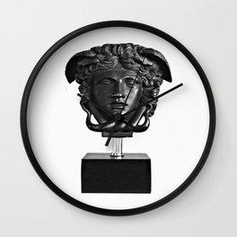medusa b&w collection Wall Clock