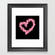 LOVE IN SMOKE Framed Art Print
