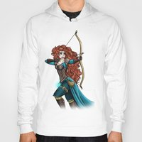 merida Hoodies featuring Steampunk Merida by Hungry Designs