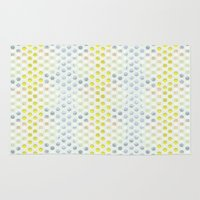 polka dots Area & Throw Rugs featuring Polka dots by Selkiesong