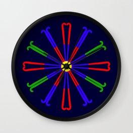 Field Hockey Stick Design Wall Clock