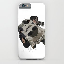 Great Dane dog in your face iPhone Case