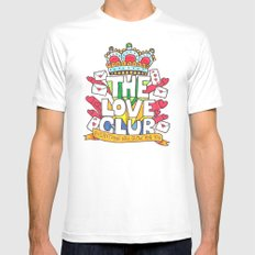 The Love Club White MEDIUM Mens Fitted Tee