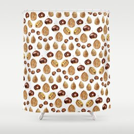 Nuts Shower Curtain