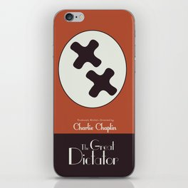 The Great Dictator, Charlie Chaplin movie poster, minimal playbill, nazis political satire, Charlot iPhone Skin