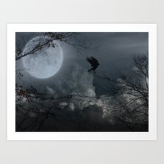 There's A Moon Out Tonight Art Print