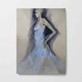Dancer In Blue Metal Print