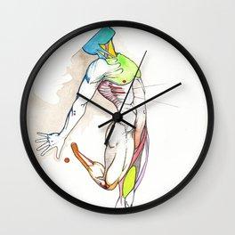 The Male Dancer, nude anatomy, NYC artist Wall Clock