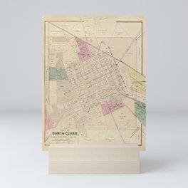 Vintage Map of Santa Clara CA (1876) Mini Art Print