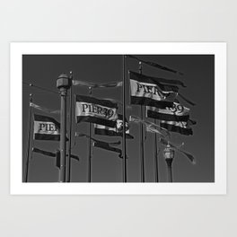 The Flags at Pier 39 Art Print