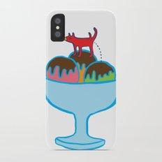 Ice-cream dog iPhone X Slim Case