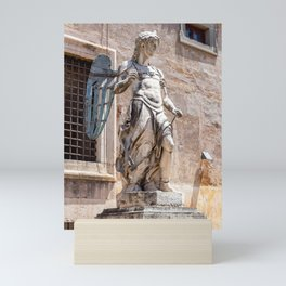 Angel statue inside Castle Sant'Angelo in Rome Mini Art Print