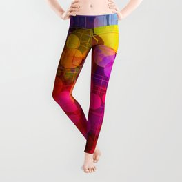 Rainbow Bubbles Abstract Design Leggings