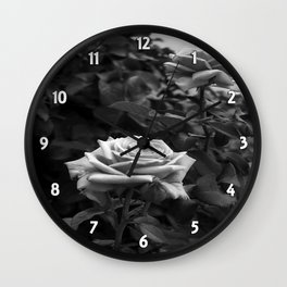 Pink Roses in Anzures 5 B&W Wall Clock