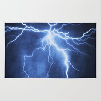 lightning Area & Throw Rugs featuring Lightning by Svetlana Sewell
