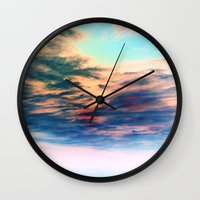 heaven Wall Clocks featuring Heaven by Amy Sia