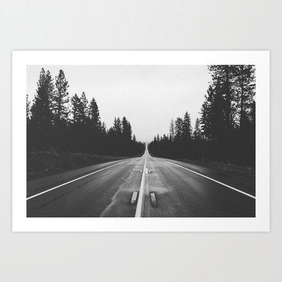 Grey road Art Print