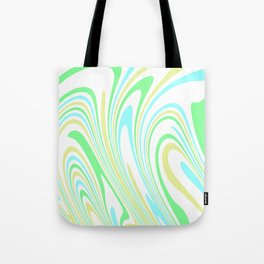 Blue, Yellow, and Green Waves 2 Tote Bag