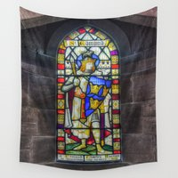 stained glass Wall Tapestries featuring Stained Glass by Ian Mitchell