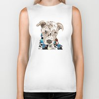 pit bull Biker Tanks featuring a pit bull day by bri.buckley