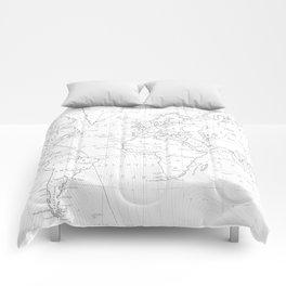 Vertical Worldmap. Nordic style Comforters