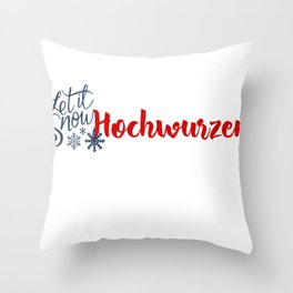 Snow in Hochwurzen Throw Pillow