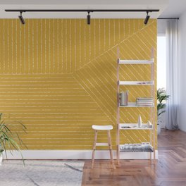 Lines / Yellow Wall Mural