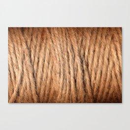 Brown Yarn Threads Canvas Print
