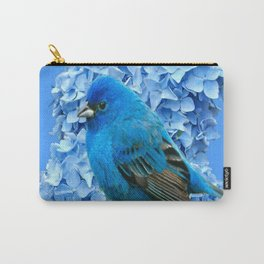 BLUE BIRD & BLUE HYDRANGEAS ART Carry-All Pouch
