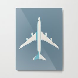 747-8 Jumbo Jet Airliner Aircraft - Slate Metal Print