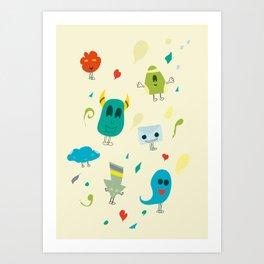 I mostri Art Print