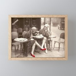New Red Shoes Vintage Paris Photo Framed Mini Art Print