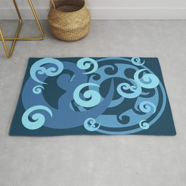 Koru Pattern, Blue Rug