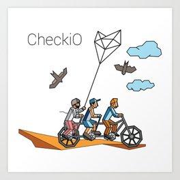 CheckiO bike Art Print