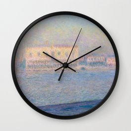 Claude Monet The Doge's Palace Seen from San Giorgio Maggiore Wall Clock