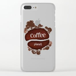 Welcome to the Coffee planet - I love Coffee Clear iPhone Case