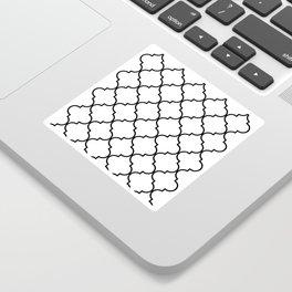 Quatrefoil - black on white Sticker