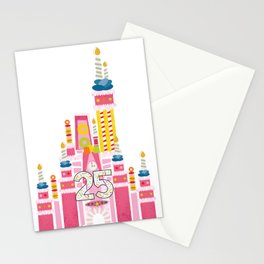25th Birthday Magic Cake Castle Stationery Cards