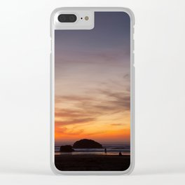 Sunset Watchers Clear iPhone Case