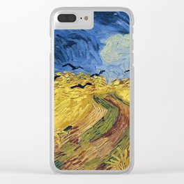 Wheatfield with Crows by Vincent van Gogh Clear iPhone Case