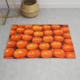 Mid century tomatoes from Italy market Rug