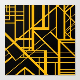 Roadway Of Abstraction - Interstate Abstract Path Canvas Print