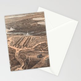 Vintage Pictorial Map of Central Park (1864) Stationery Cards