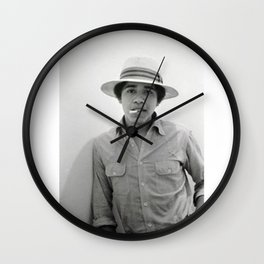 Barack Hussein Obama II - BLM - Society6 - First African American President Of The United States 223 Wall Clock