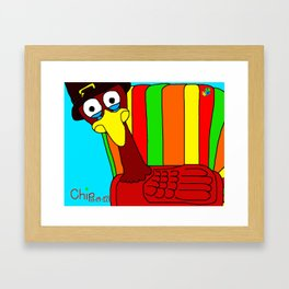 Sad Thanksgiving Turkey Framed Art Print
