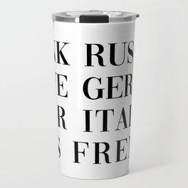wear italian kiss french Travel Mug