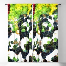 Fruits and vegetables painting set Blackout Curtain